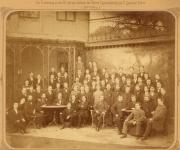 Mitarbeiter der Fa. Löwenthal im Jahr 1883 zum 25-jährigen Firmenjubiläum